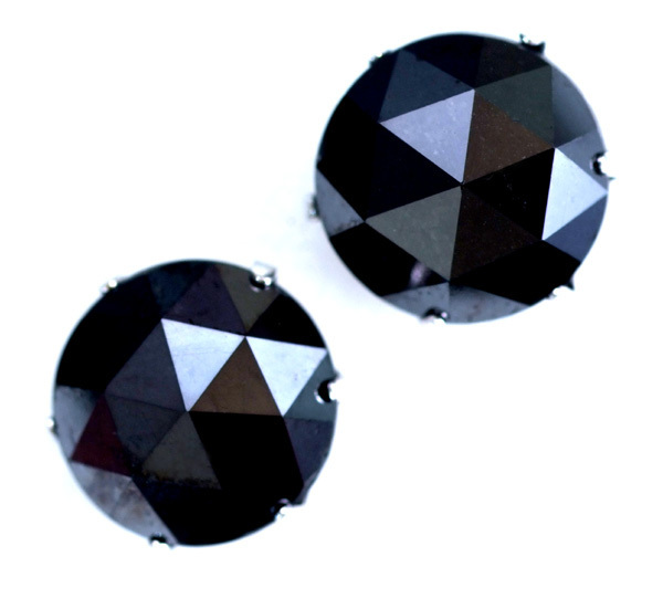*VTFB-2.00【Large Black Diamond Stud Earrings】美しい大粒ブラックダイヤモンド2.00ct 最高級Pt900無垢男女兼用ピアス 新品