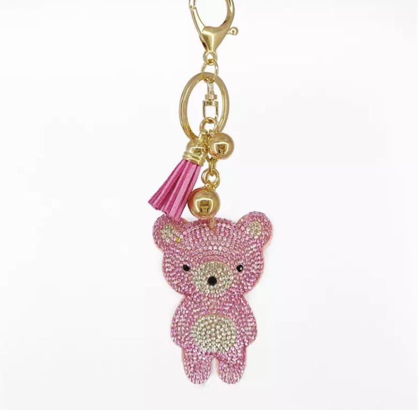 【ピンク】バッグチャーム キーホルダー