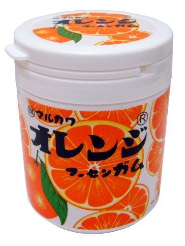 1個 丸川製菓 オレンジマーブルガムボトル 130g_画像2