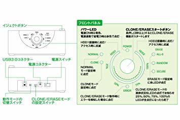 ▼●☆クローン機能あり 玄人志向 SSD/HDDスタンド 2.5型&3.5型対応 USB3.0接続 PCレスで高速クロー_画像3