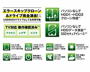 ▼●☆クローン機能あり 玄人志向 SSD/HDDスタンド 2.5型&3.5型対応 USB3.0接続 PCレスで高速クロー_画像4