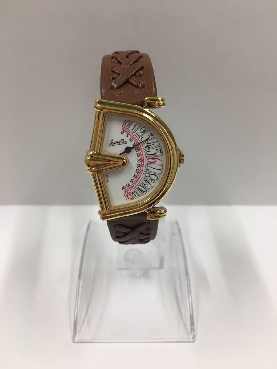 ジャンイブ セクトラ ジャンピングアワー 腕時計 クオーツ ゴールド レディース アクセサリー Jeand'Eve 時計_画像1