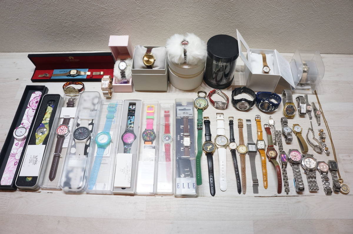 【B33U】超大量!40点以上!レディース 腕時計 ウォッチ FURLA/SKAGEN/LUKIA/XC/ALFREDOVERSACE/baby-G/swatch/FOSSIL ジャンク有