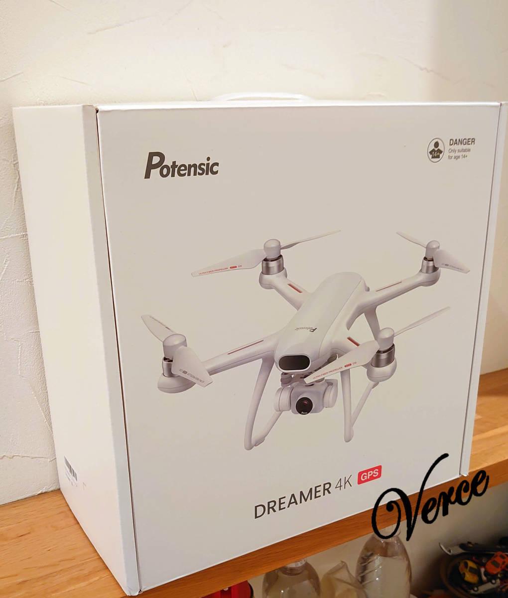 Potensic ドローン Dreamer P1 4K HDカメラ SONYセンサー GPS 31分間飛行 2時間充電 モード1 モード2 転換可能 リターンモード 白 ホワイト