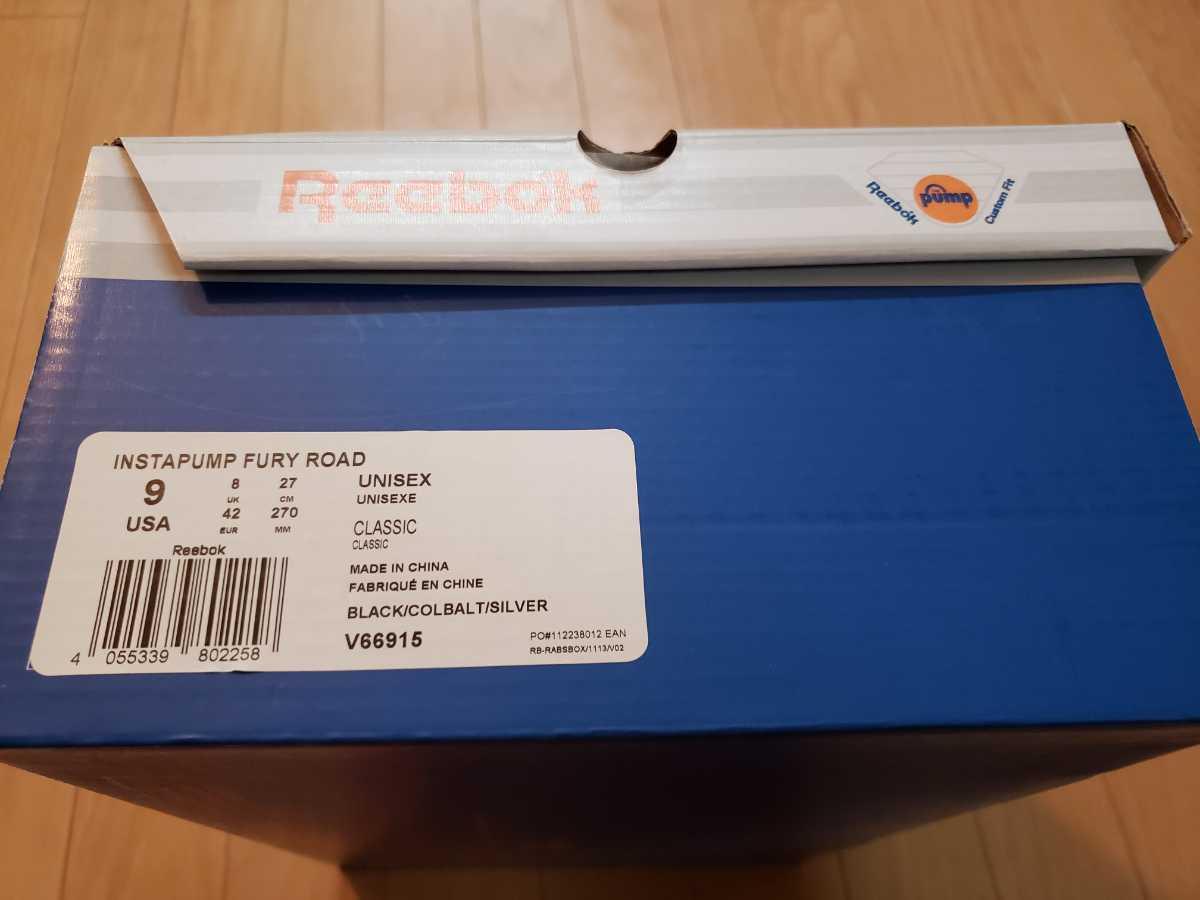 未使用 Reebok FURY ROAD ブラック ブルーマーク リーボック フューリーロード 黒 青マーク 完売品_画像6