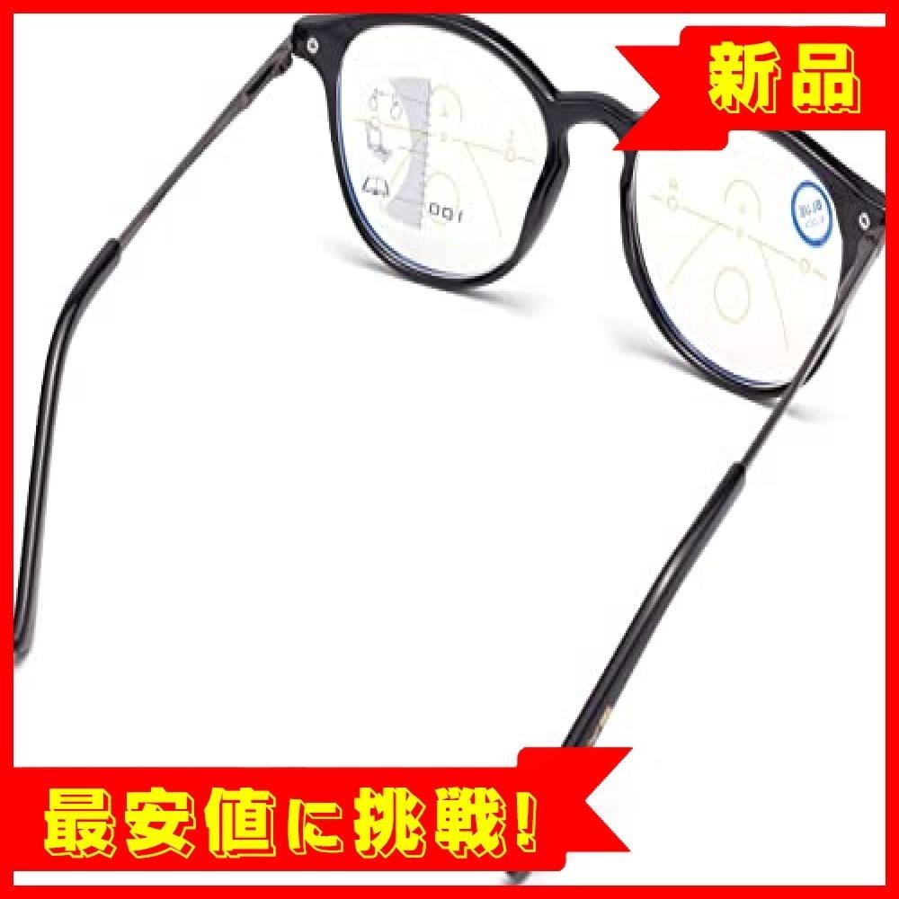 【最安!残1】ブラック 2.5 老眼鏡 遠近両用 ブルーライトカットメンズ レディース シニアグラス リーディンググラス 軽_画像5