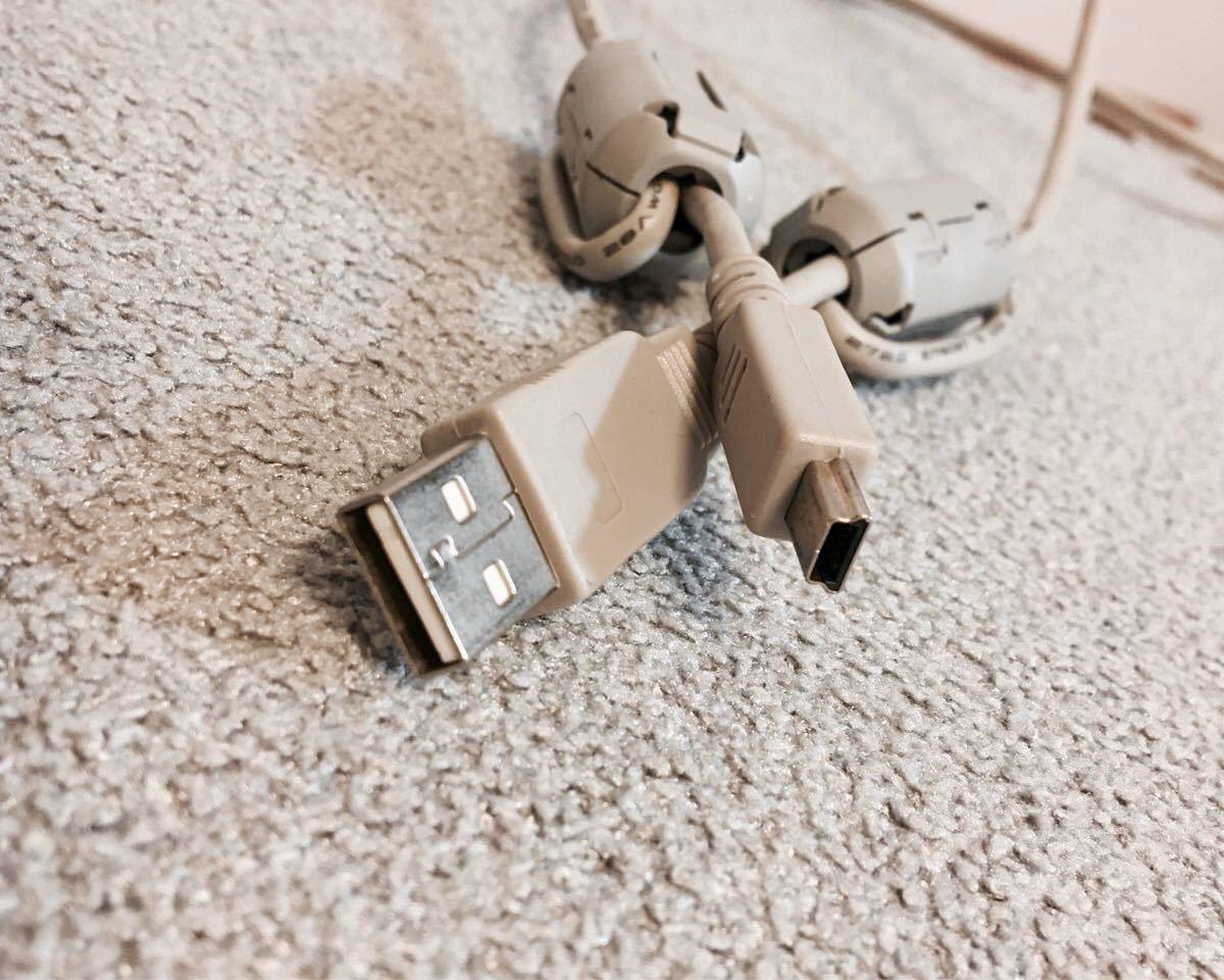 USBケーブル 約1m(中古品) スタンダードA←→USB(2.0)Mini-B