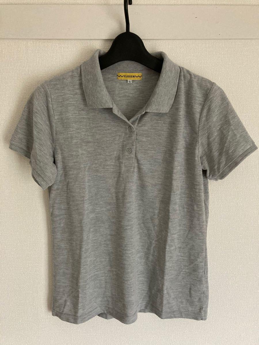 ポロシャツ L グレー 美品