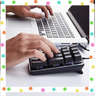 テンキーボード メカニカル式テンキーパッド 赤軸 21キー USB接続 ブラック Windows Mac 対応_画像6