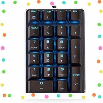 テンキーボード メカニカル式テンキーパッド 赤軸 21キー USB接続 ブラック Windows Mac 対応_画像2