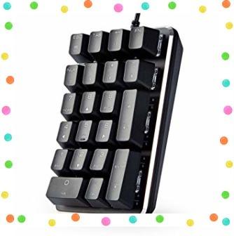テンキーボード メカニカル式テンキーパッド 赤軸 21キー USB接続 ブラック Windows Mac 対応_画像4