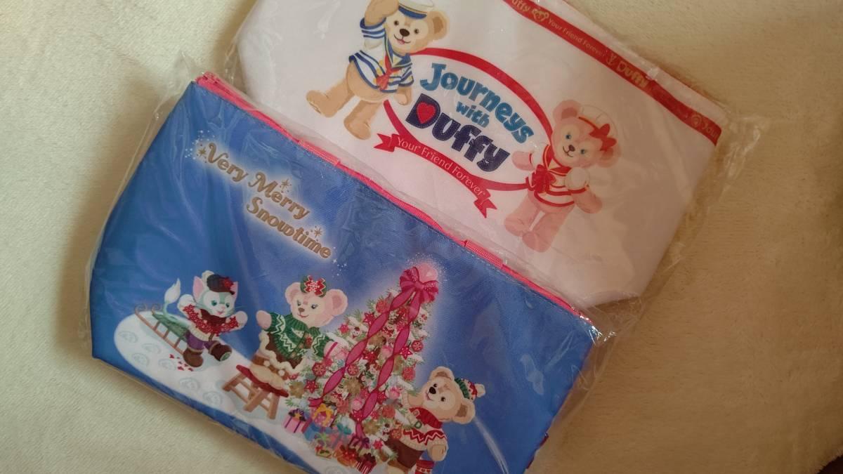 ディズニー ランチケース ダッフィー シェリーメイ クリスマス 未使用 2個セット _ダッフィー シェリーメイ ランチケース