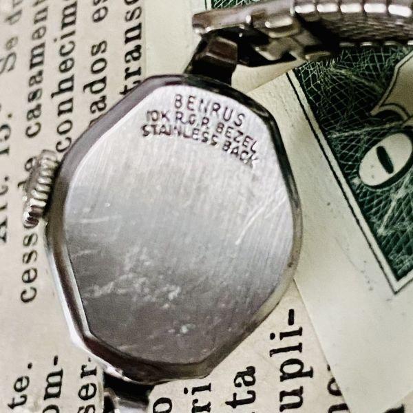 【高級腕時計 ベンラス 】Benrus 10KRGP 手巻き 17石 手巻き メンズ レディース ビンテージ アナログ 腕時計 7026_画像9