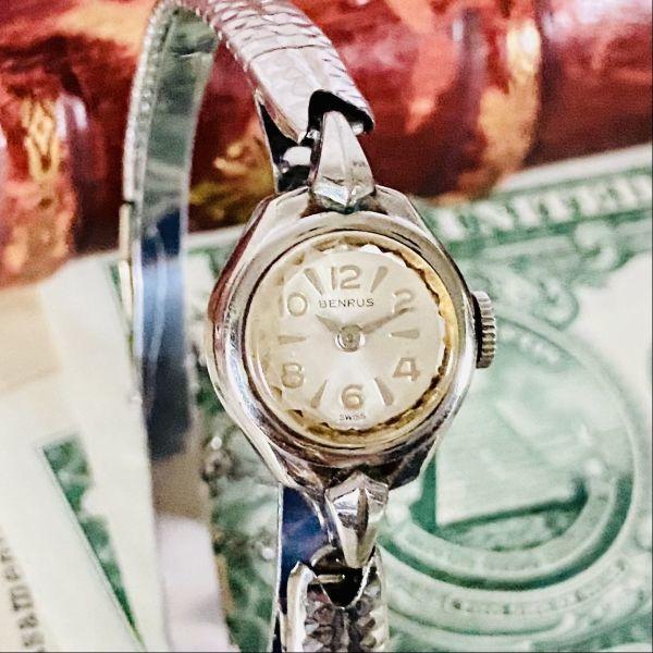 【高級腕時計 ベンラス 】Benrus 10KRGP 手巻き 17石 手巻き メンズ レディース ビンテージ アナログ 腕時計 7026_画像3