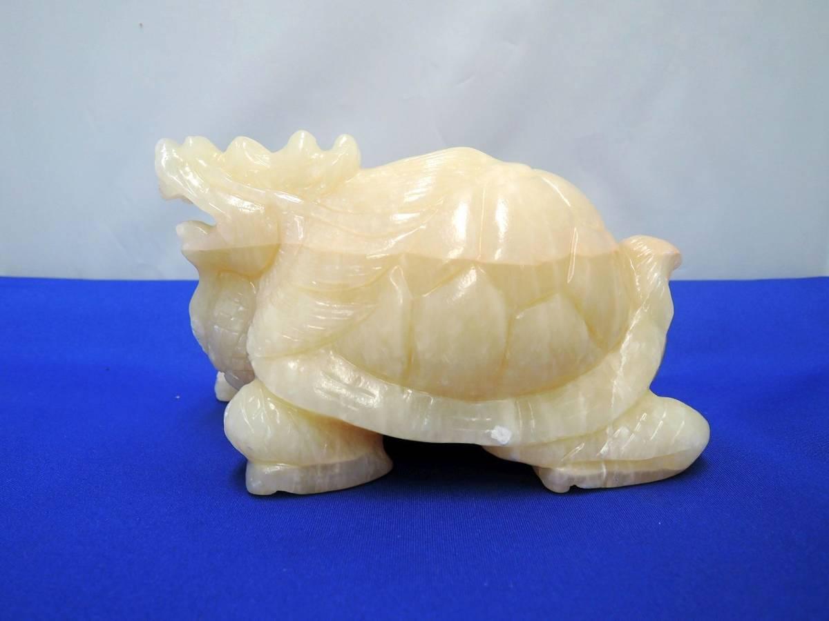 [SU055]彫刻品 玄武 大理石オブジェ 現状販売_画像5