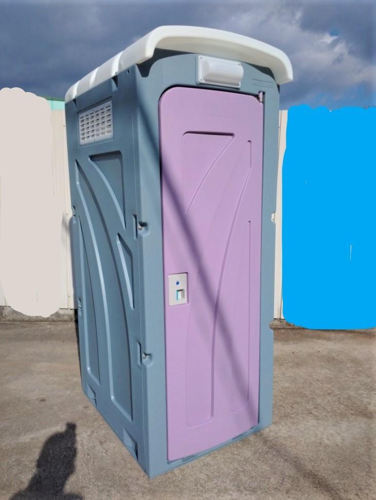 【福島 宮城】新棟 仮設 和式トイレ 軽水洗 汲取り式 ペダル 新品 便槽付 簡易水洗 格安配送 サイズ 870×1,485×2,592 イベント 現場 工事_【福島 宮城】※便槽付 格安配送