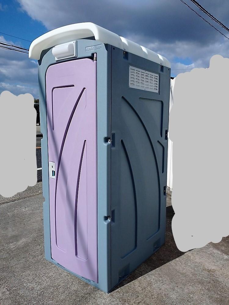 【福島 宮城】新棟 仮設 和式トイレ 軽水洗 汲取り式 ペダル 新品 便槽付 簡易水洗 格安配送 サイズ 870×1,485×2,592 イベント 現場 工事_【福島 宮城】※便槽付き 格安配送