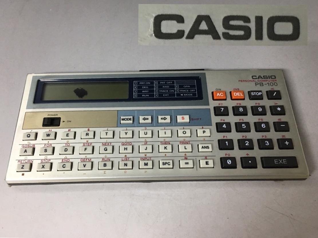 KG1/16 CASIO カシオ ポケットコンピューター PB 100 ポケコン 本体のみ 日本製 動作品 _画像1