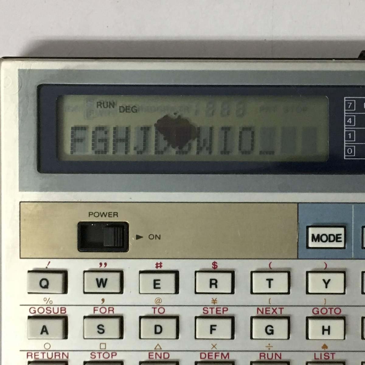 KG1/16 CASIO カシオ ポケットコンピューター PB 100 ポケコン 本体のみ 日本製 動作品 _画像6