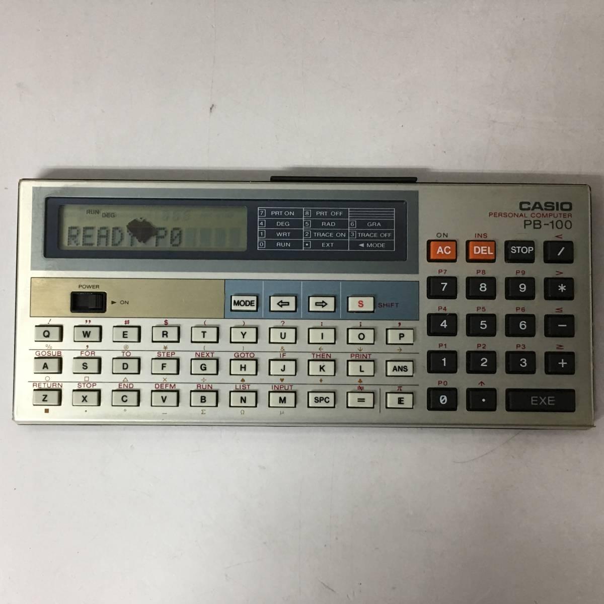 KG1/16 CASIO カシオ ポケットコンピューター PB 100 ポケコン 本体のみ 日本製 動作品 _画像2