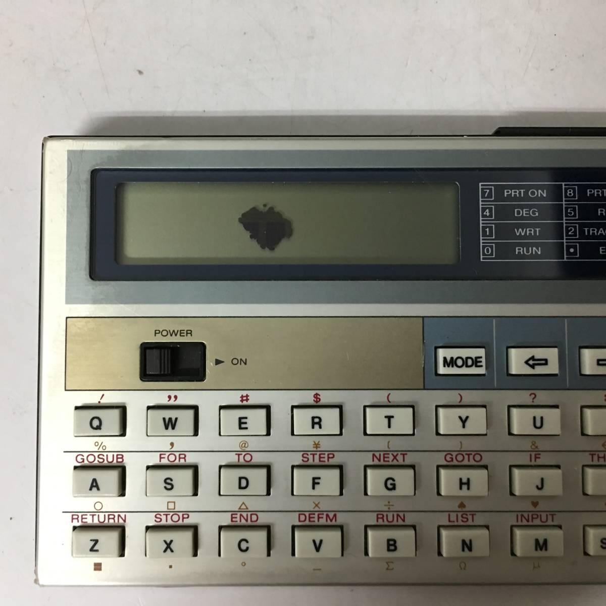 KG1/16 CASIO カシオ ポケットコンピューター PB 100 ポケコン 本体のみ 日本製 動作品 _画像5