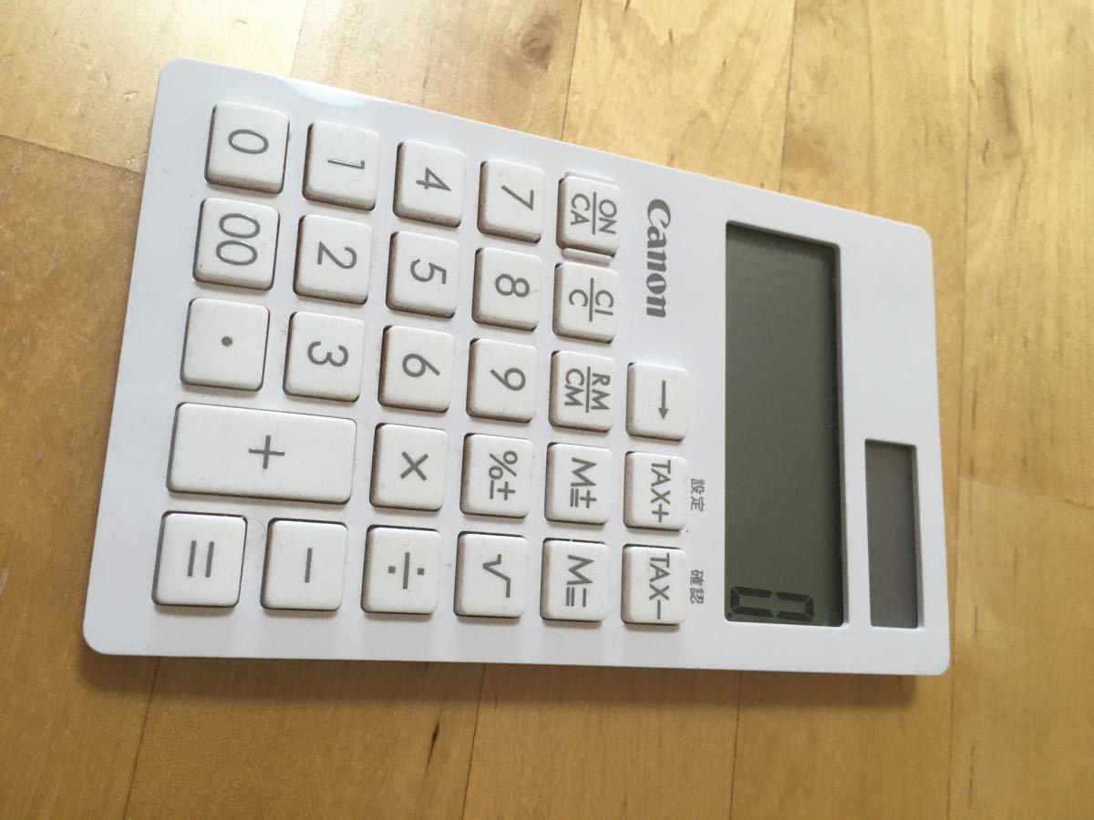 Canon 電卓 キャノン ホワイト