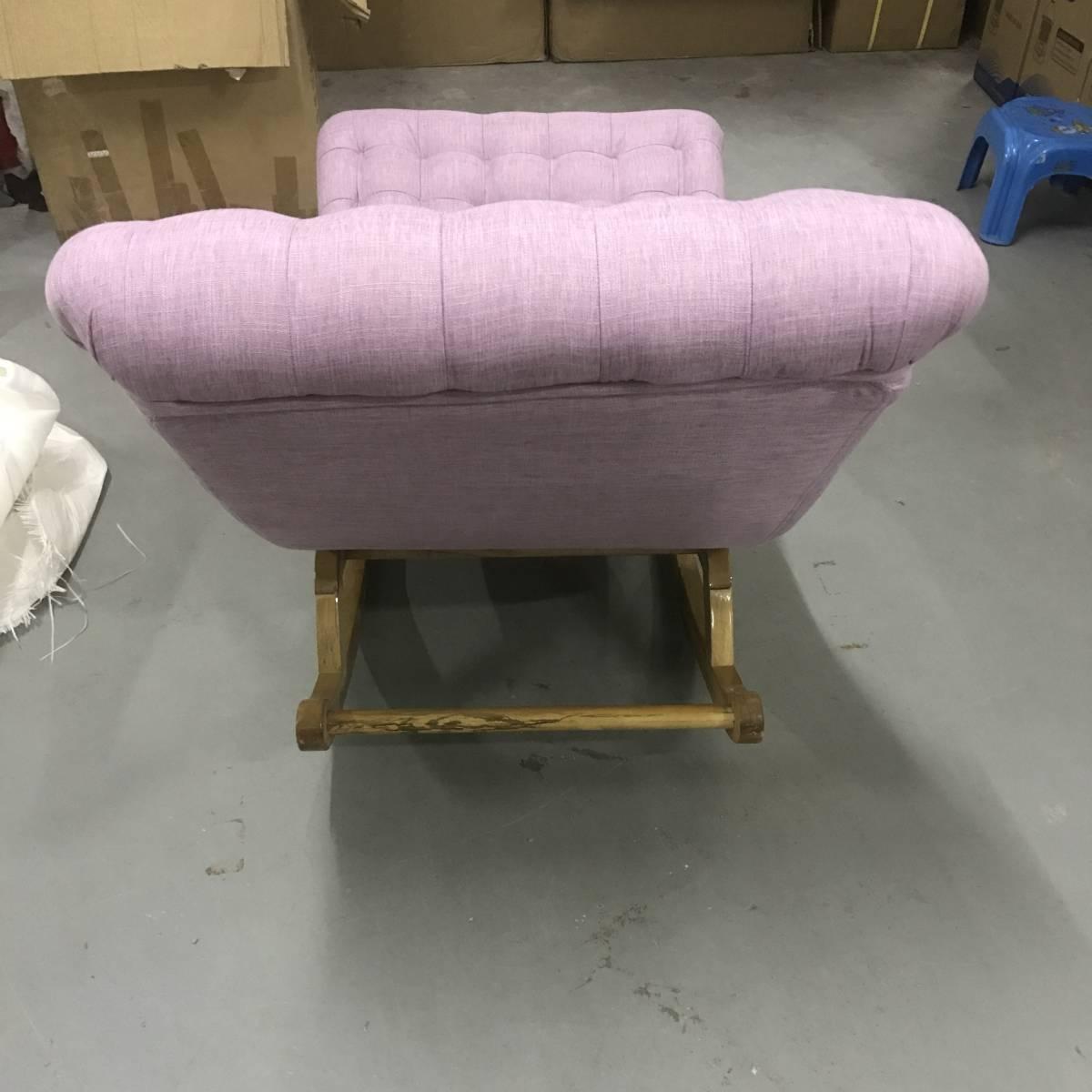 1円 倉庫在庫処分 未使用品 安楽椅子希少木製椅子イス極上座り心地 在庫一掃 処分セール XHQ036_画像5