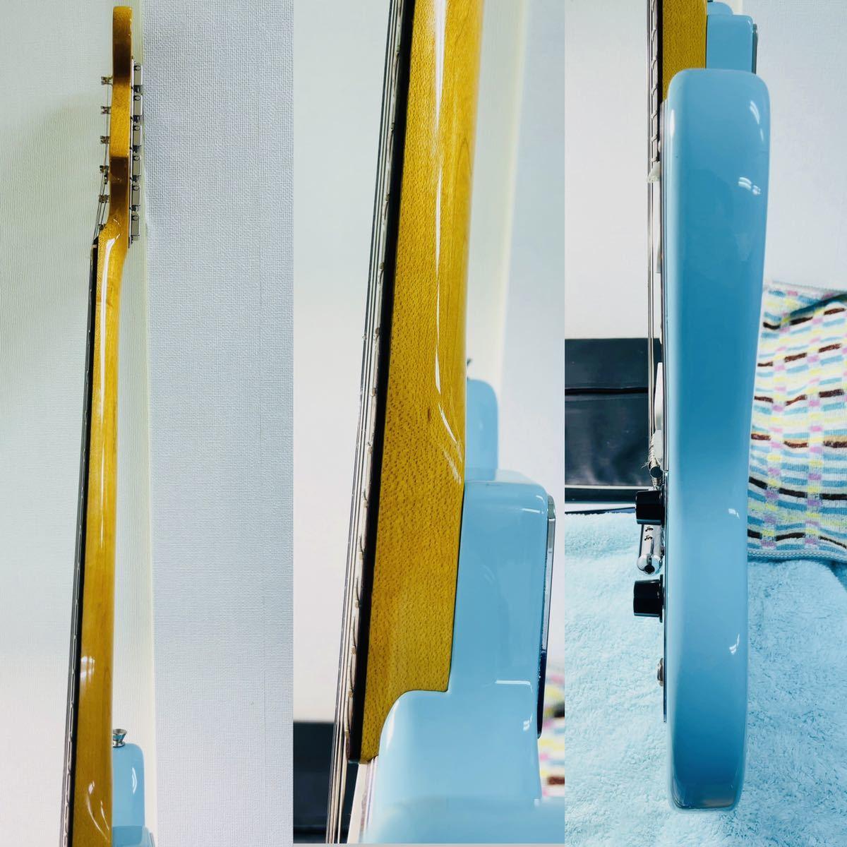 美品 Fender フェンダー MUSTANG エレキギター ムスタング U002928 肩掛けベルト ソフトケース付き_画像4