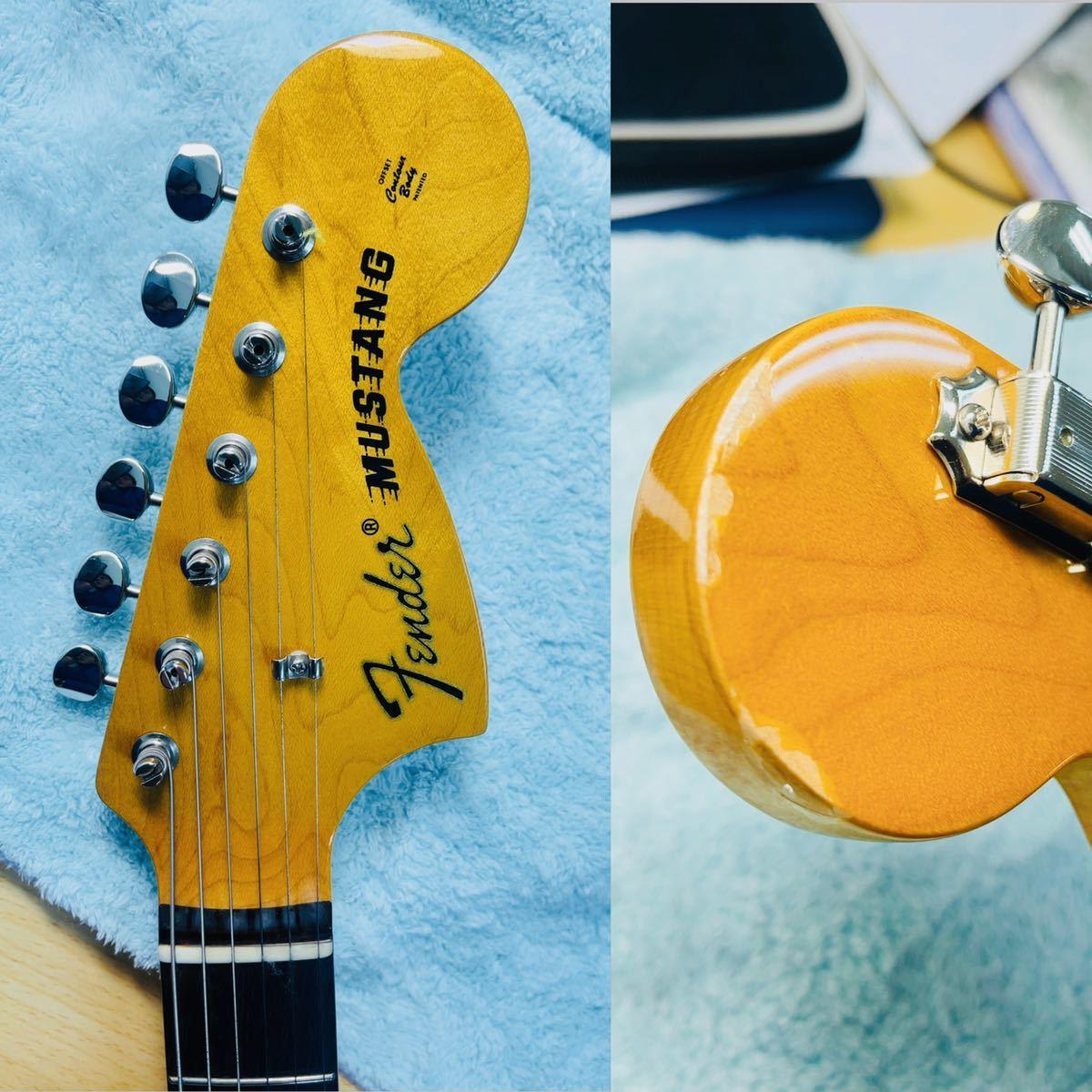 美品 Fender フェンダー MUSTANG エレキギター ムスタング U002928 肩掛けベルト ソフトケース付き_画像5