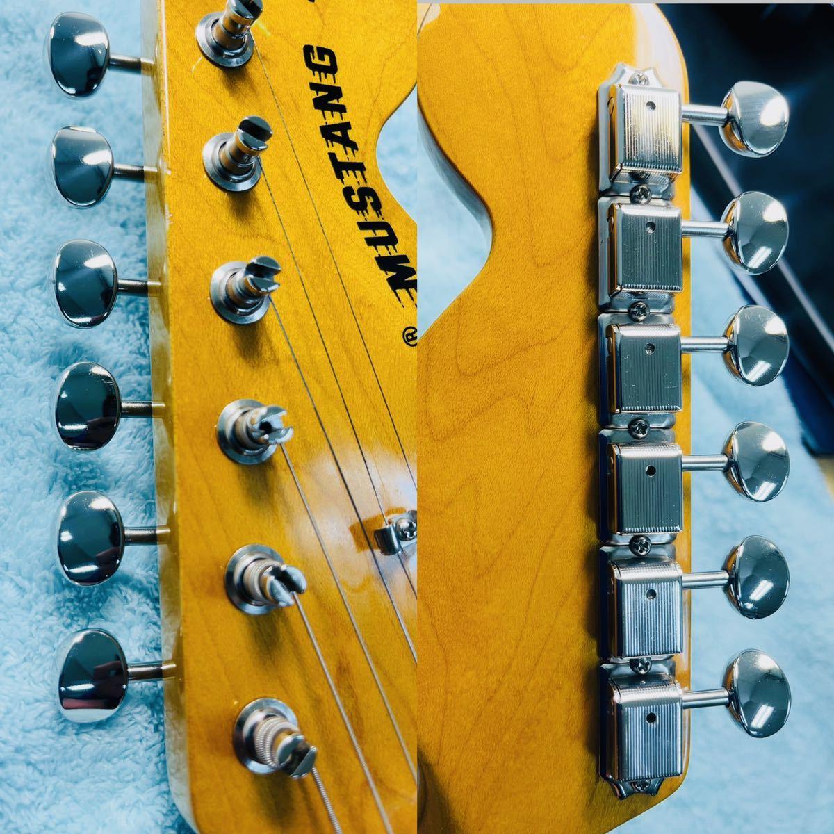 美品 Fender フェンダー MUSTANG エレキギター ムスタング U002928 肩掛けベルト ソフトケース付き_画像6