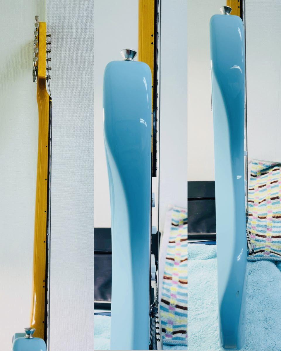 美品 Fender フェンダー MUSTANG エレキギター ムスタング U002928 肩掛けベルト ソフトケース付き_画像3