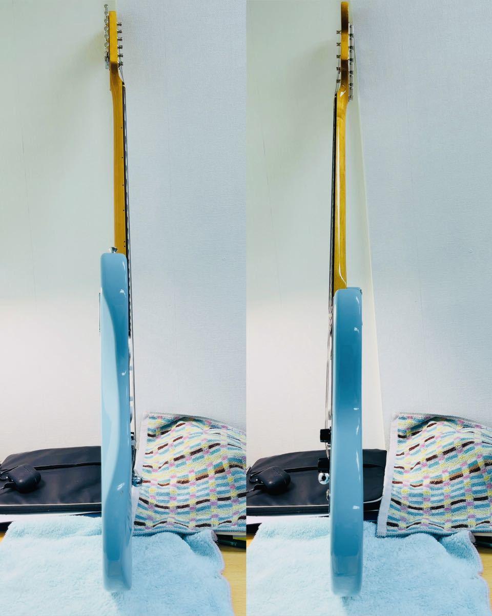 美品 Fender フェンダー MUSTANG エレキギター ムスタング U002928 肩掛けベルト ソフトケース付き_画像2