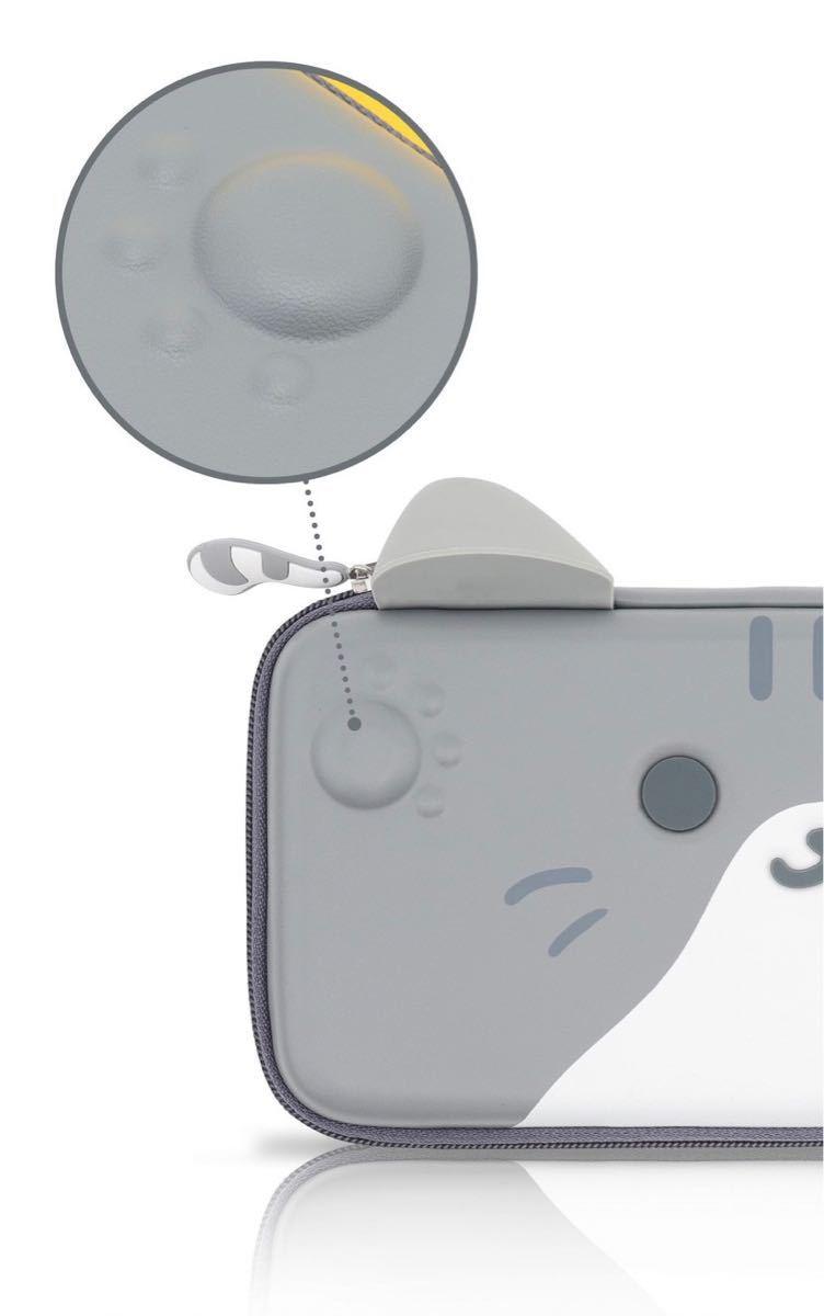 任天堂switch収納キャリングケース スイッチ保護ポーチPUレザーハードタイプ かわいい猫