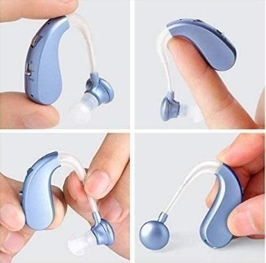 【送料無料】 集音器 補聴器 充電式 軽量 左右両用タイプ 高齢者中度難聴者用 耳掛け式 高性能 xq1516_画像3