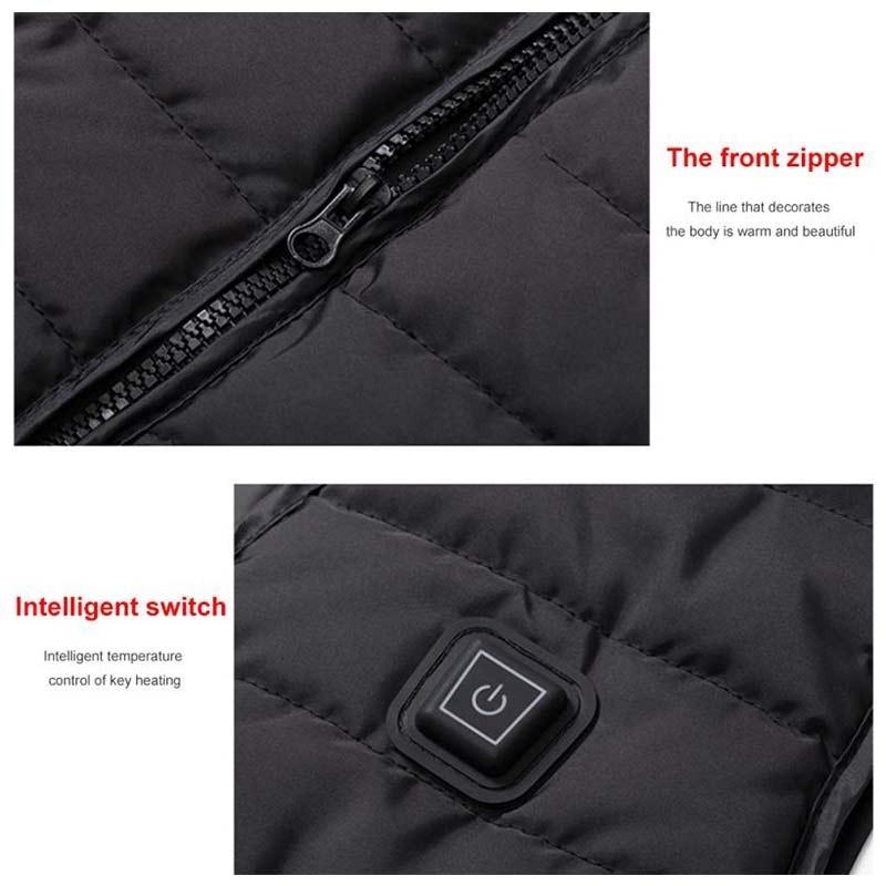 ◆最安にします◆ 電熱ベスト メンズ Lサイズ ベスト USB 屋外 ジャケット ブラック モバイル電源 作業 外 おしゃれ かっこいい AT11053_画像5