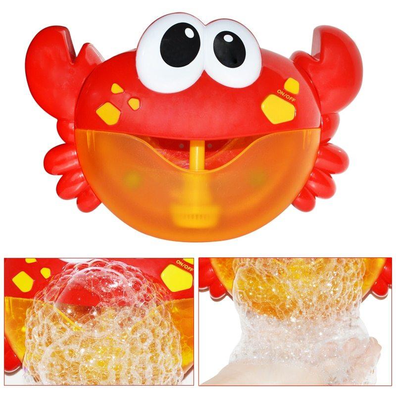 ◆1円スタート◆お風呂時間も楽しく◎お風呂のおもちゃ かに バブルメーカー 泡 メロディー バスタイム キッズ 水遊び 浴室 AT10998_画像3