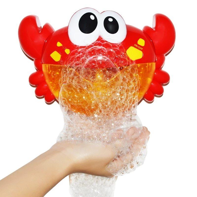 ◆1円スタート◆お風呂時間も楽しく◎お風呂のおもちゃ かに バブルメーカー 泡 メロディー バスタイム キッズ 水遊び 浴室 AT10998_画像1