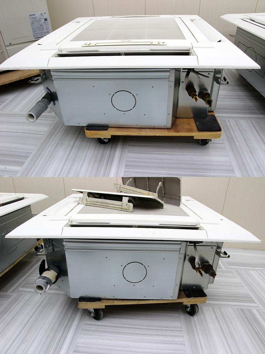 19年製 超美品!三菱電気 業務用 エアコン 天カセ ツイン 内機×2 パッケージエアコン 4方向 天井埋め込み 10馬力 三相200V 28.0k 47~70坪_画像5