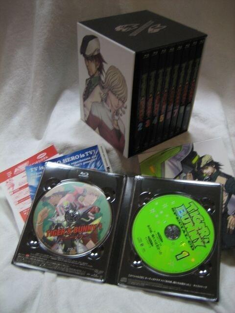 【即決】☆TIGER&BUNNY タイガー&バニー Blu-ray 初回限定盤 全9巻セット  BOX付 タイバニ