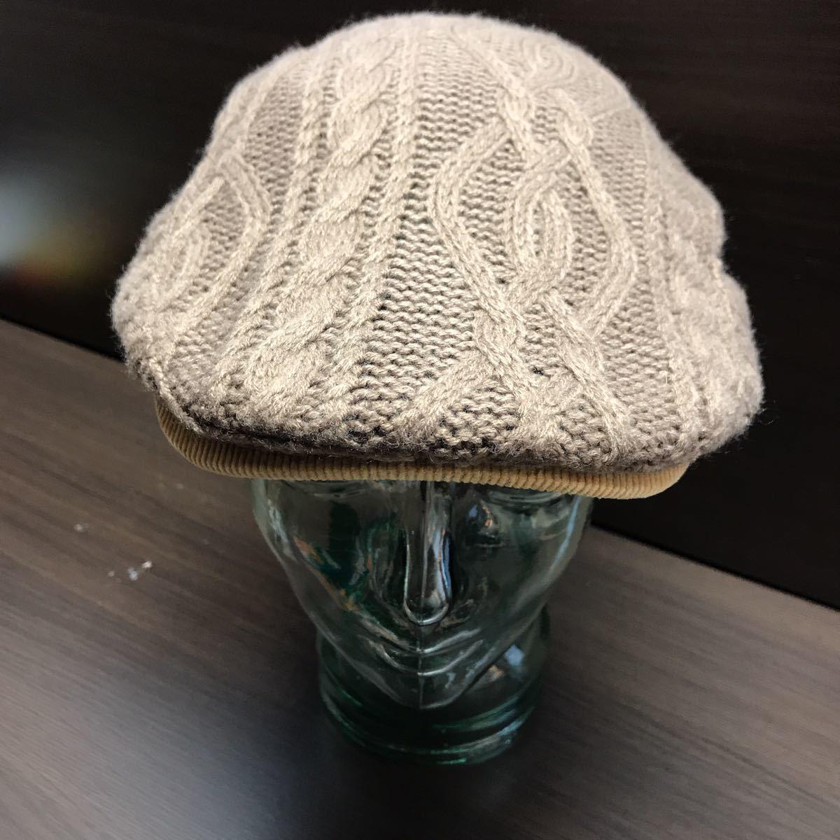 GRACE HATS ユニセックス ハンチングニット帽 ブラウン系 グレースハット_画像1