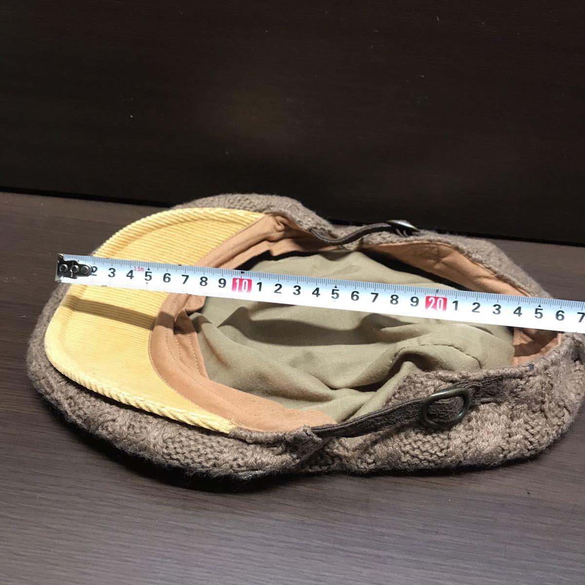 GRACE HATS ユニセックス ハンチングニット帽 ブラウン系 グレースハット_画像4
