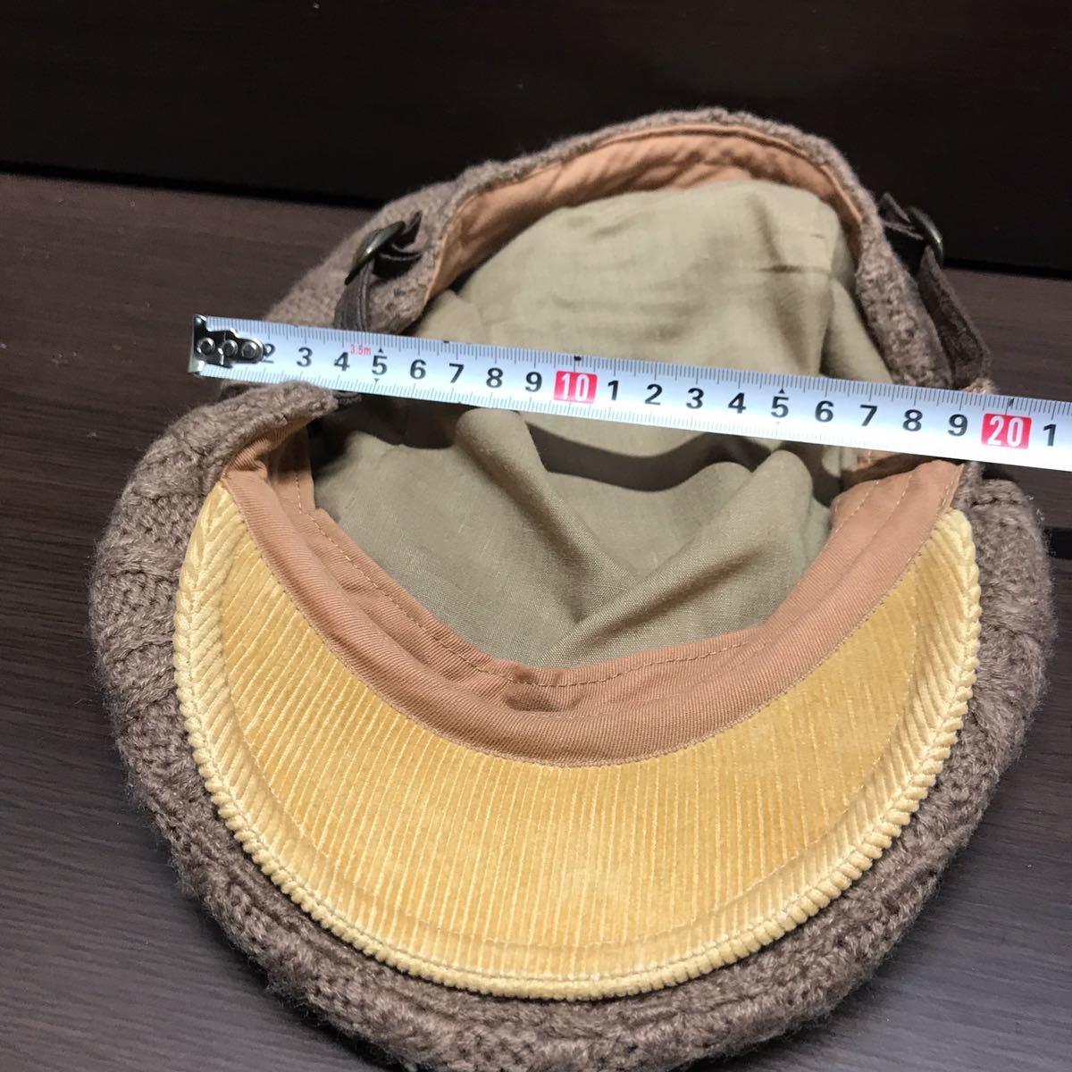 GRACE HATS ユニセックス ハンチングニット帽 ブラウン系 グレースハット_画像5