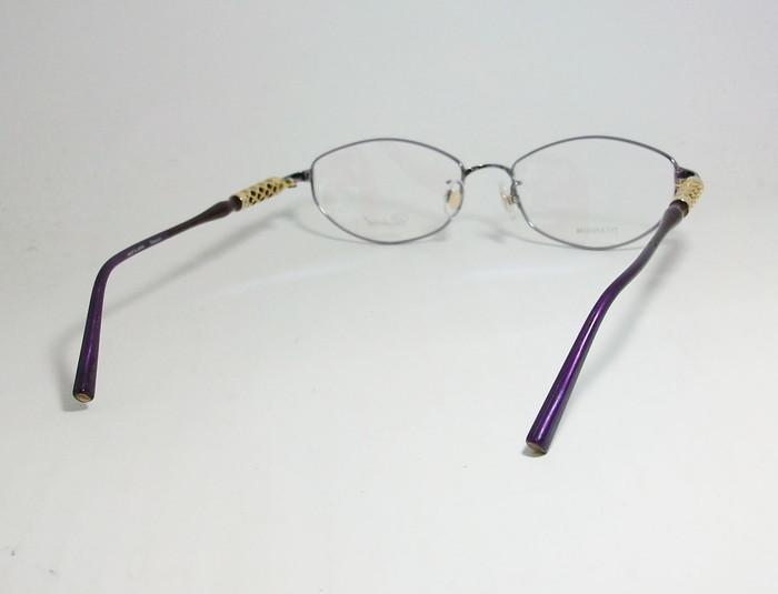 Chopard ショパール ■訳あり■ レディース 女性 婦人 眼鏡 メガネ フレーム VCHB86J-0R95 サイズ52 度付可 パープル MADE IN JAPAN 日本製_画像4