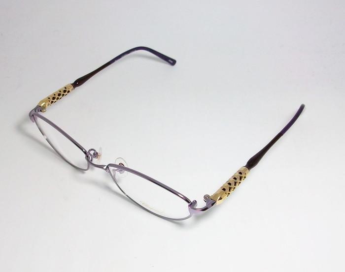 Chopard ショパール ■訳あり■ レディース 女性 婦人 眼鏡 メガネ フレーム VCHB86J-0R95 サイズ52 度付可 パープル MADE IN JAPAN 日本製_画像3