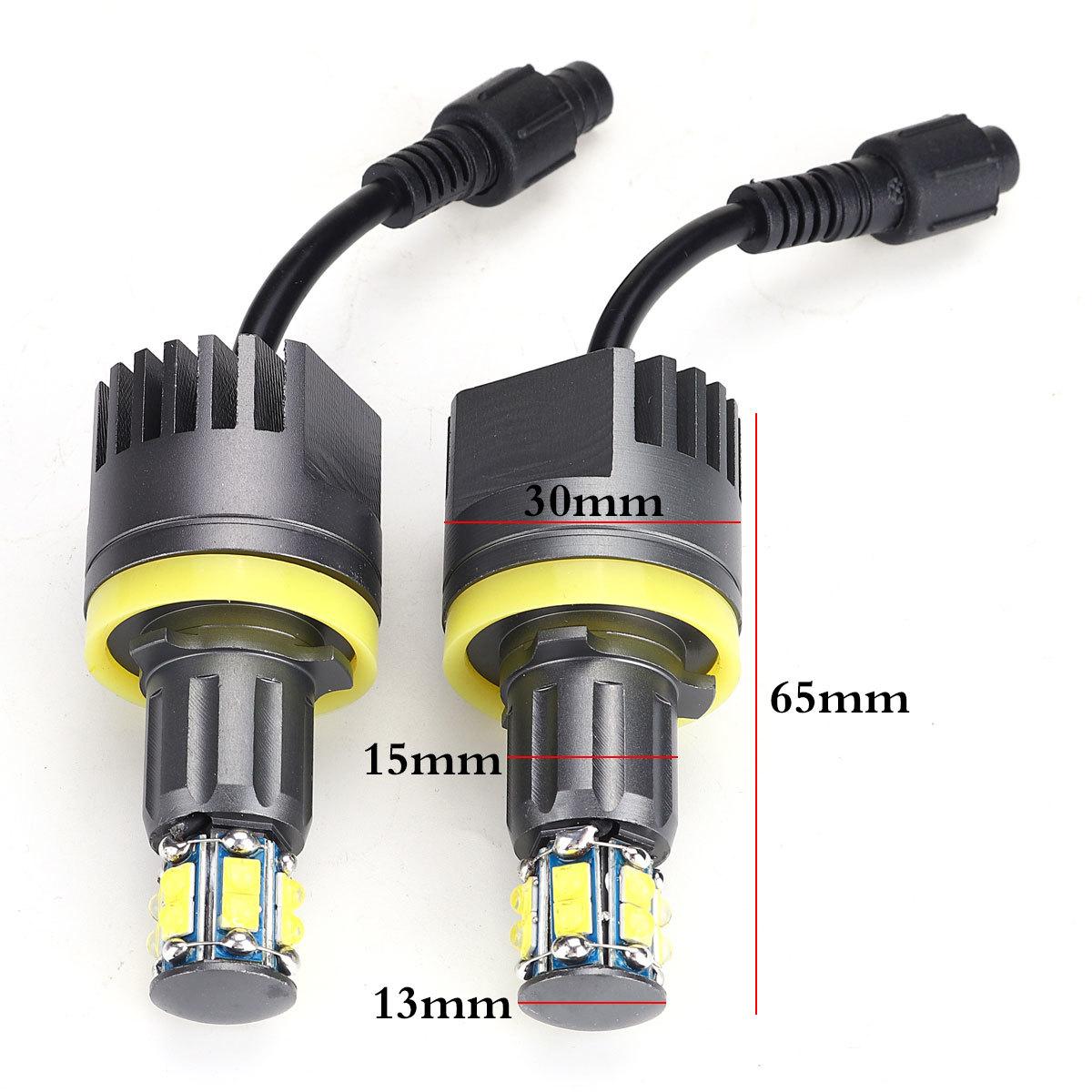 2 × 120 ワットH8 LEDエンジェル アイズフォグランプ ヘッドライトCANBUS BMW E60 E61 E63 X5 E70 X6 E71 E90 E91 E92 E93 M3 E89 E_画像5