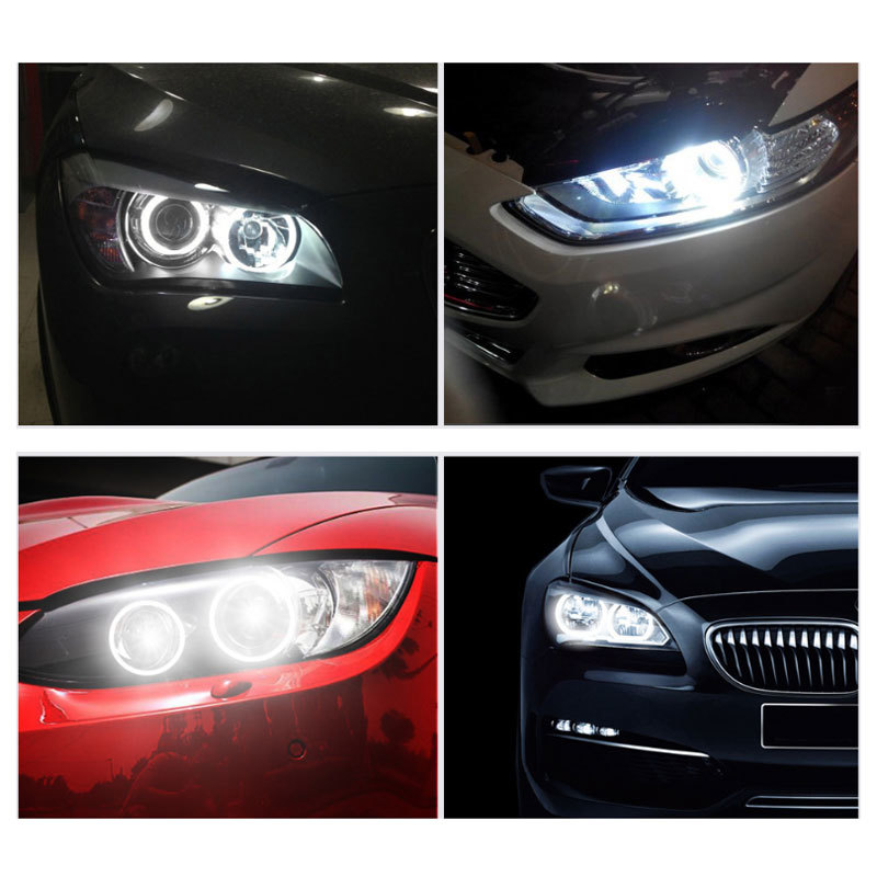 2 × 120 ワットH8 LEDエンジェル アイズフォグランプ ヘッドライトCANBUS BMW E60 E61 E63 X5 E70 X6 E71 E90 E91 E92 E93 M3 E89 E_画像2