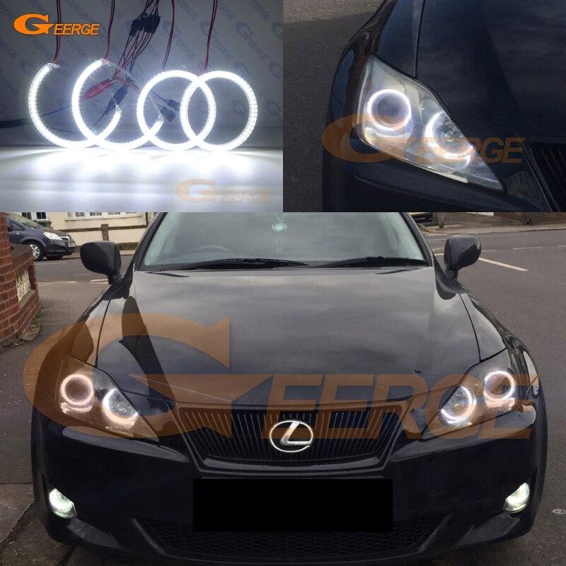 レクサスはII IS220 IS250 IS300 IS350 IS-F 2005-2010超高輝度SMD LEDエンジェル アイズハローリングキット車のアクセサリー