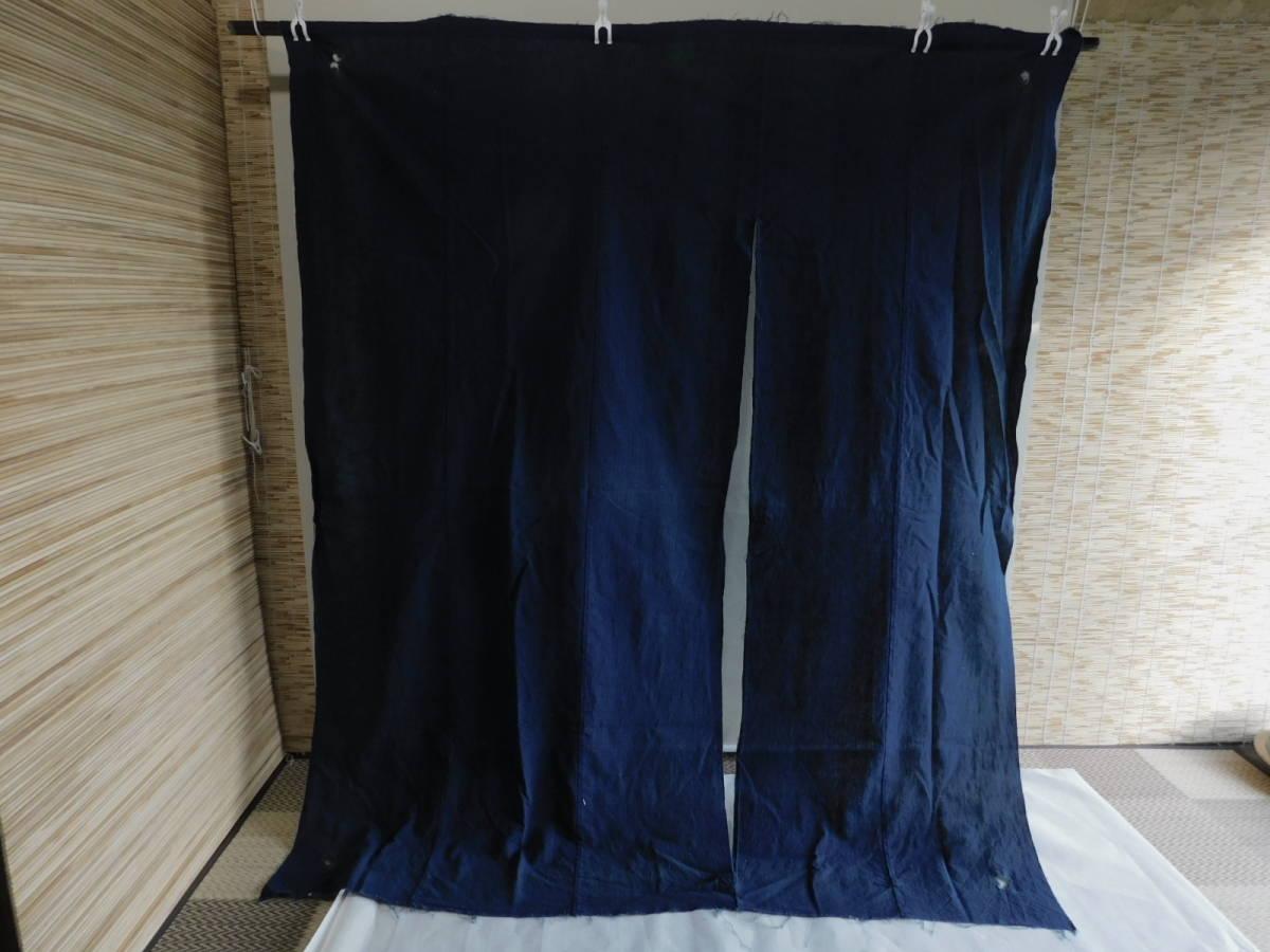 藍無地5巾 藍染木綿布団皮古布はぎれ襤褸ボロBOROインディゴ_画像1