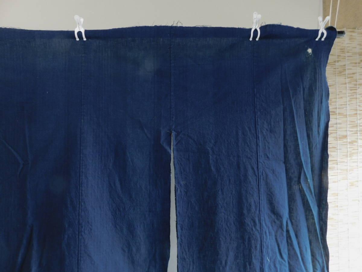 藍無地5巾 藍染木綿布団皮古布はぎれ襤褸ボロBOROインディゴ_画像3