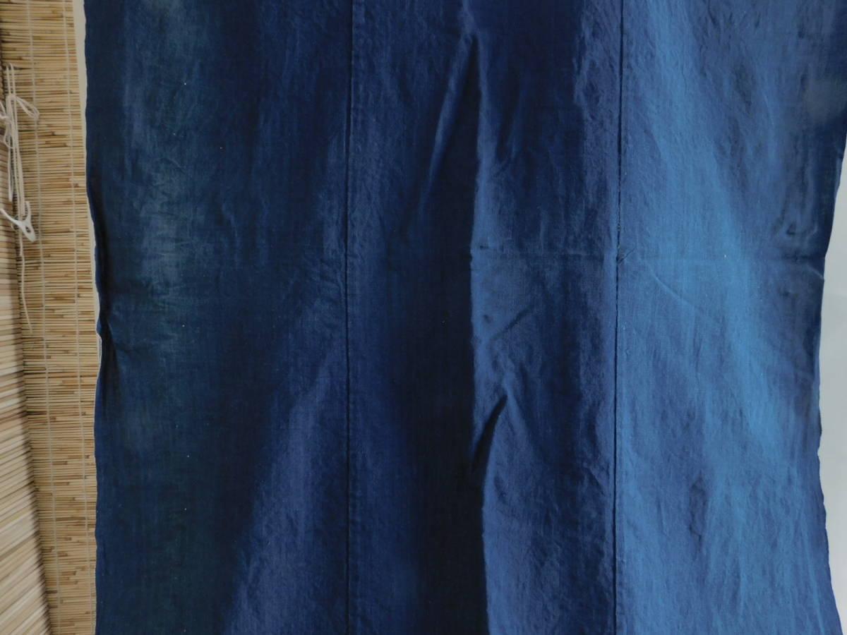 藍無地5巾 藍染木綿布団皮古布はぎれ襤褸ボロBOROインディゴ_画像6